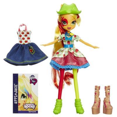My Little Pony Equestria Girls Rainbow Rocks Applejack Doll with Fashions