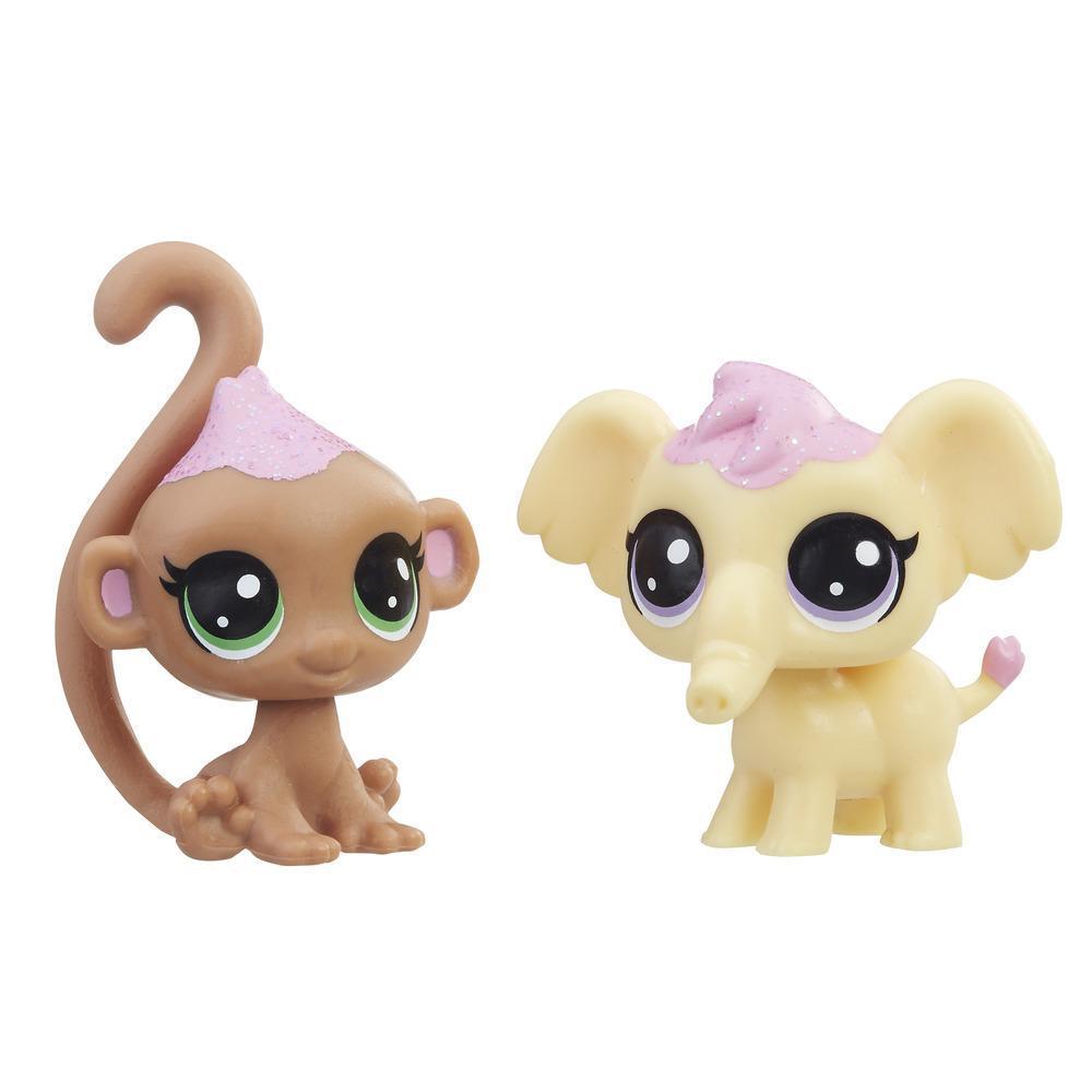Littlest Pet Shop Miniş Tatlı Koleksiyonu İyi Dostlar - Fil & Maymun