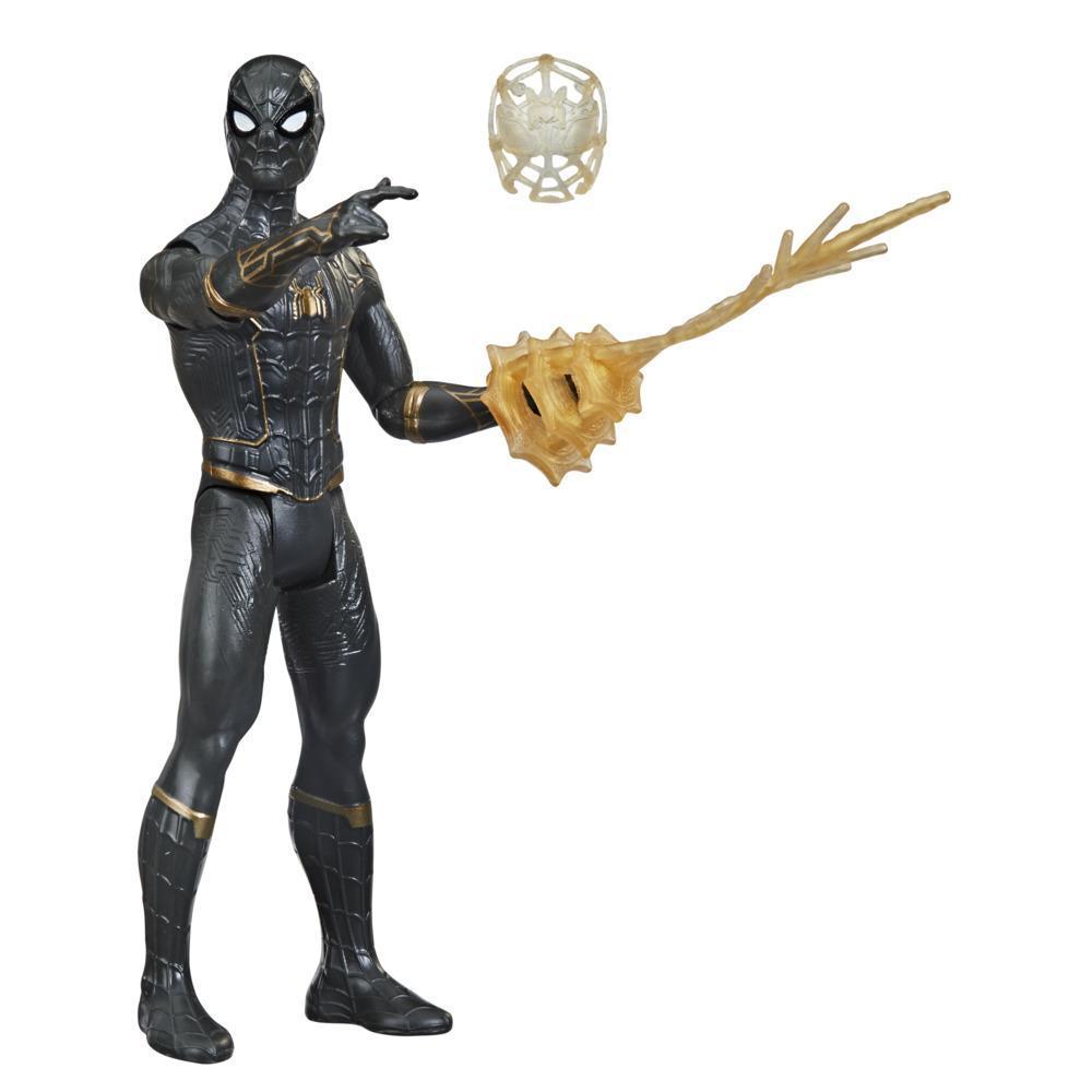 Spider-Man Mystery Web Gear Siyah-Altın Zırhlı Spider-Man Figür