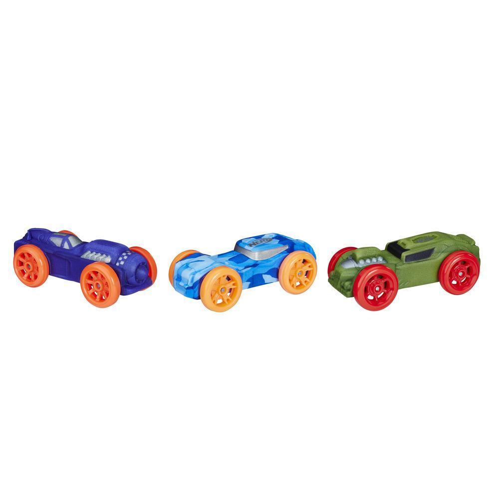 Nerf Nitro Araba 3'lü Yedek Paket (Mor/Mavi/Yeşil)