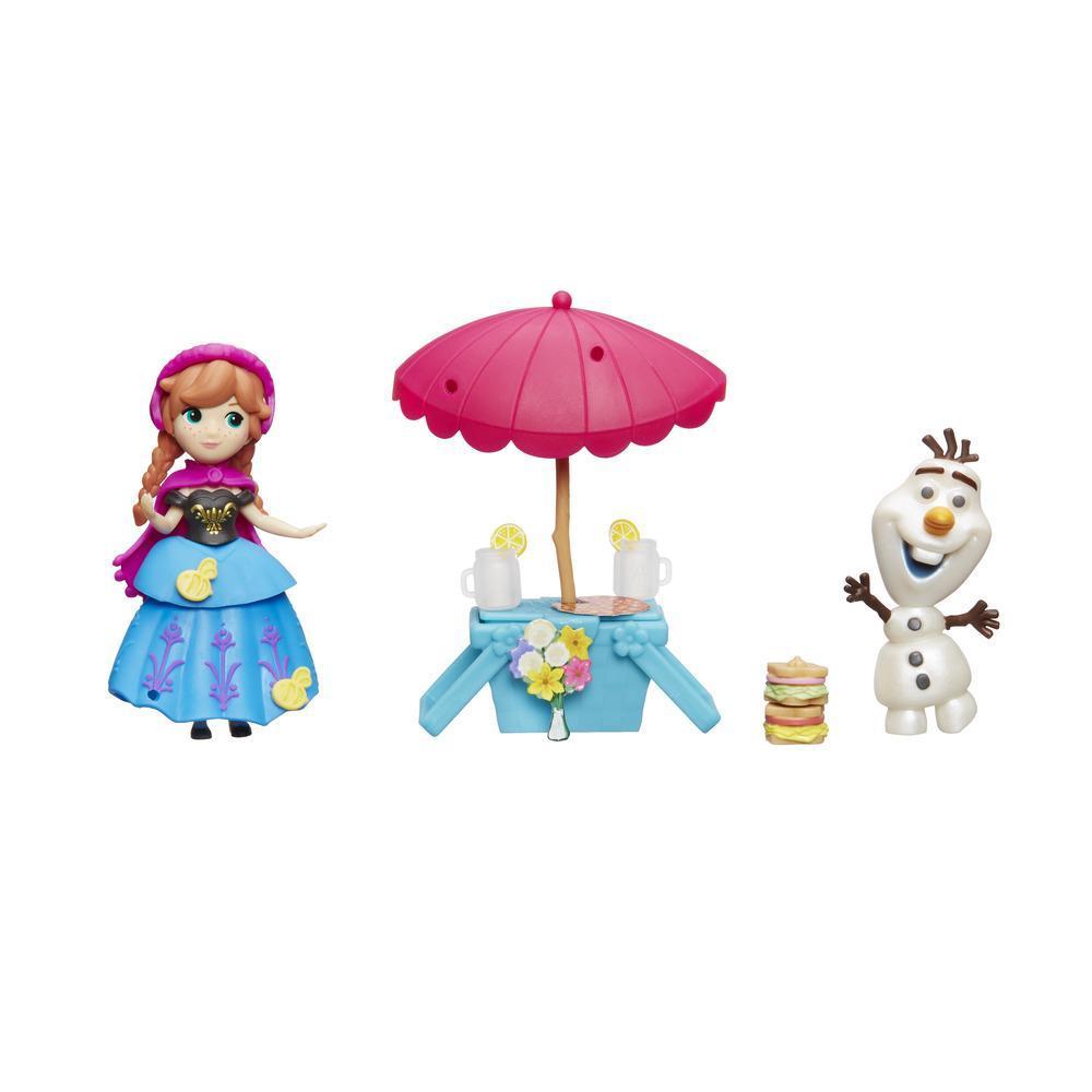 Disney Frozen Little Kingdom Anna ve Olaf Piknikte Sahnesi