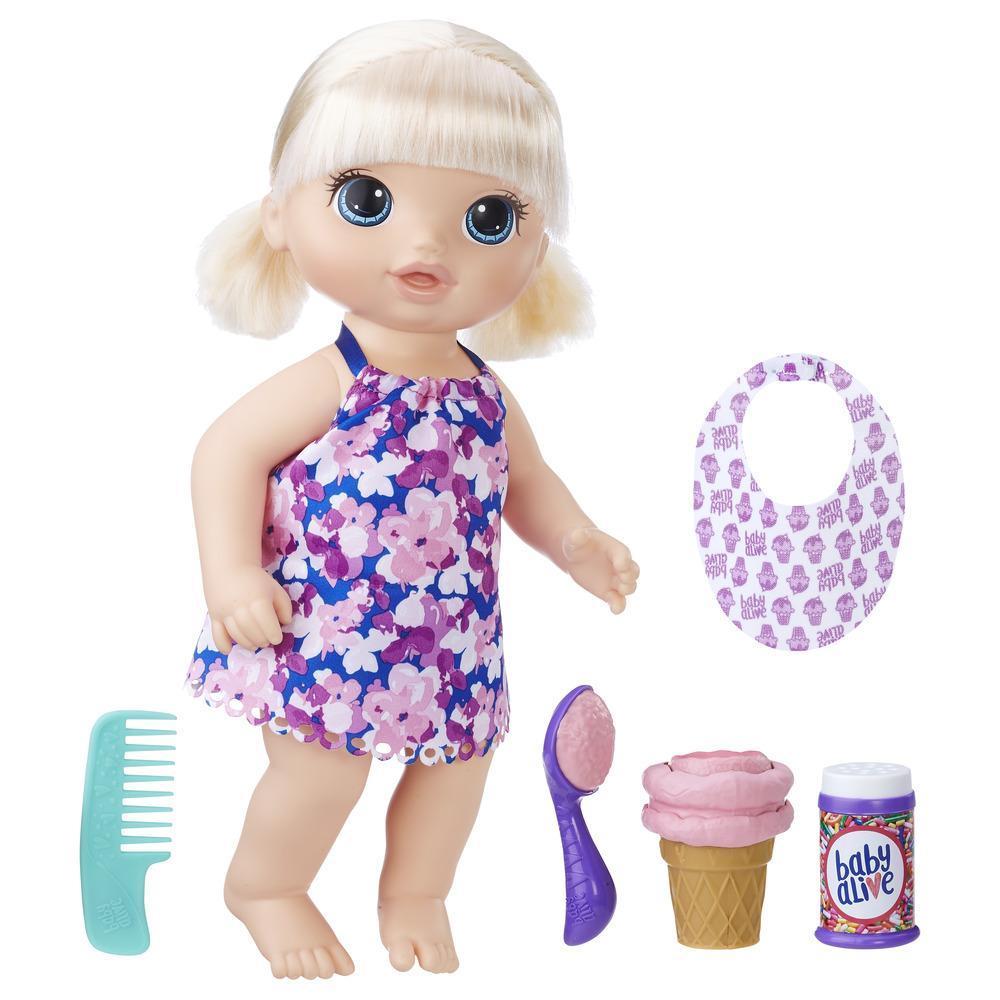 Лялька Бейбі Елайв Білявка і Морозиво.
