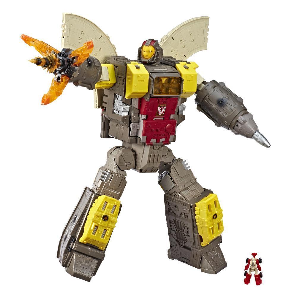 變形金剛 Generations 斯比頓之戰泰坦級龐龍玩具 - 可變形為司令部 - 成人及 8 歲和以上兒童,60 公分