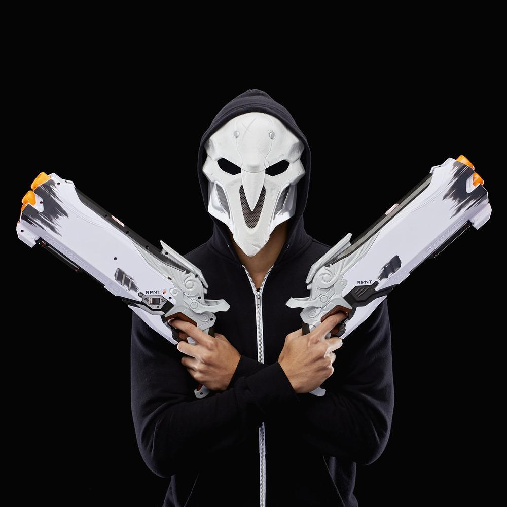 Overwatch Reaper (Wight Edition) Collector Pack with 2 Nerf Rival Blasters 1 Reaper Face Mask and 16 Overwatch Nerf Rival Rounds