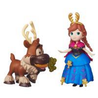 冰雪奇緣迷你公主及朋友組-安娜與小斯