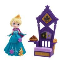 冰雪奇緣迷你公主及配件組-艾莎與王座