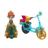 冰雪奇緣迷你公主及配件組-安娜與單車