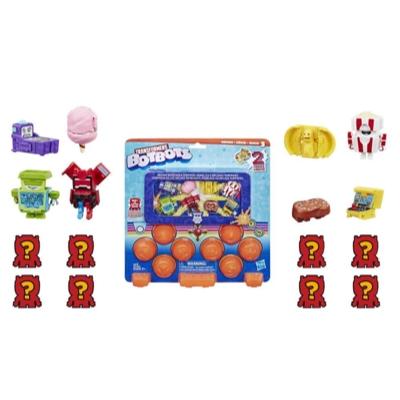 孩之寶迷你變形金剛玩具街機熱血硬派驚喜包 (16 入裝) - 神秘 2 合 1 人偶 - 適合 5 歲及以上兒童 (造型和顏色可能有所差異) Product